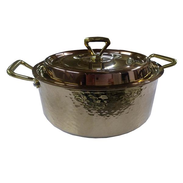 XD-三層鋼鍍金錘印高湯鍋